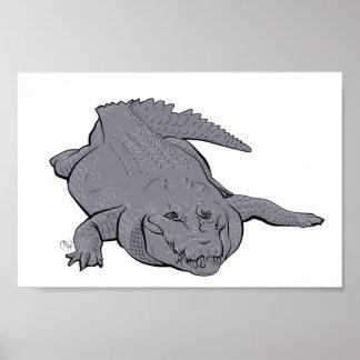 Poster da ilustração do crocodilo