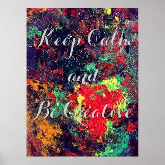 Poster da inspiração da arte