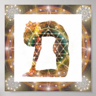 Poster da ioga da mandala pôster