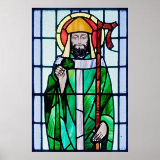 poster da janela de vitral de St Patrick