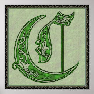 Poster da letra C