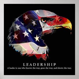 Poster da liderança de Eagle da bandeira americana Pôster