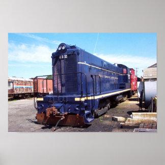 Poster da locomotiva 412 de Baldwin B&O