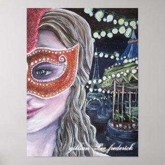poster da meia-noite do carnaval pôster