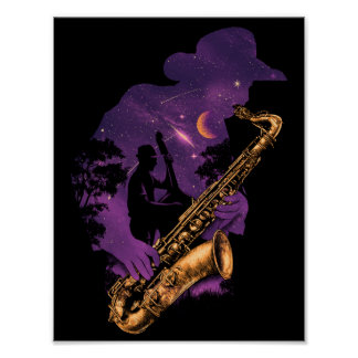 Poster da meia-noite do jazz