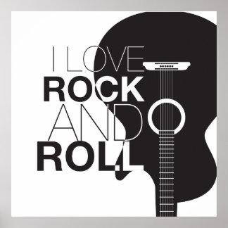 Poster da música rock