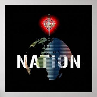 Poster da nação 24x24 de VBH Pôster
