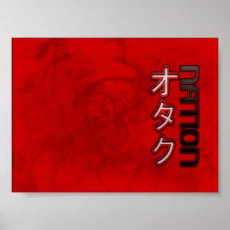 Poster da nação de Otaku Pôster