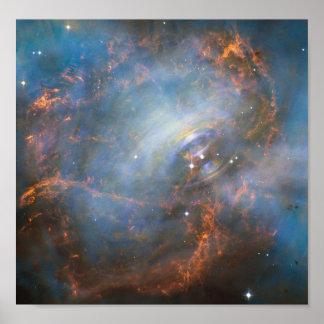 Poster da NASA de uma nebulosa de caranguejo