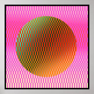 Poster da Op-Arte de Metatherea