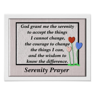 Poster da oração da serenidade