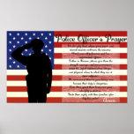 Poster da oração do agente da polícia
