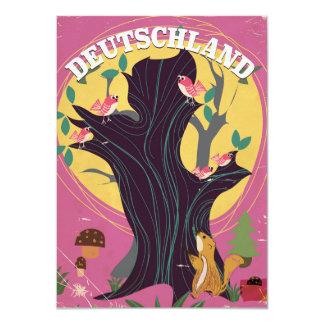 Poster da paisagem dos desenhos animados do convite 11.30 x 15.87cm