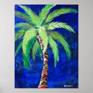 Poster da palmeira dos azuis cobaltos