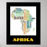 Poster da parede da arte da palavra de África