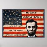 Poster da parede da campanha de Abraham Lincoln 18