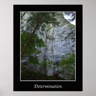 Poster da parede da inspiração da determinação