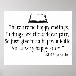 Poster da parede das citações de Shel Silverstein Pôster