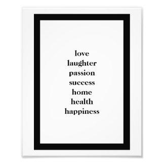 Poster da parede do sucesso da paixão do riso do impressão de foto