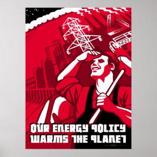 Poster da paródia da propaganda do aquecimento