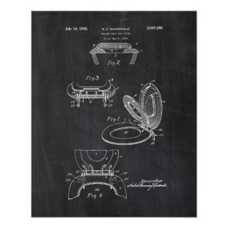 Poster da patente do assento da sanita