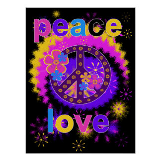 Poster da paz e do amor