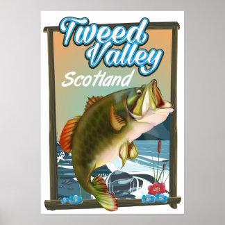 Poster da pesca de Scotland do vale da mistura de