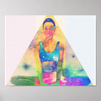 Poster da pirâmide da ioga pôster