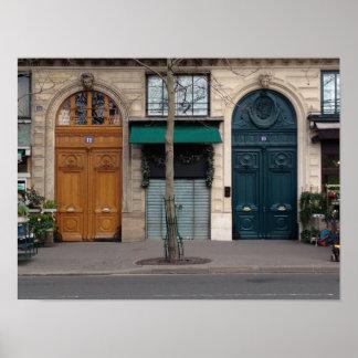 Poster da porta do amor do coração de Paris dois Pôster