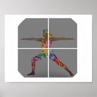 Poster da pose do guerreiro da ioga pôster