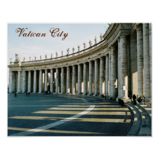 """Pôster Da """"poster Cidade do Vaticano, Italia"""""""