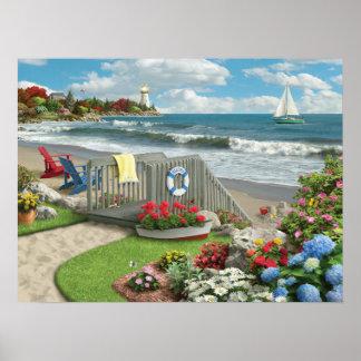 """Pôster Da """"poster dos dias praia"""" de Alan Giana"""