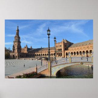 Poster da Praça de Espanha em Sevilha