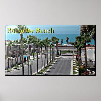 Poster da praia de Rosarito México Pôster