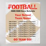 Poster da programação do futebol - modelo
