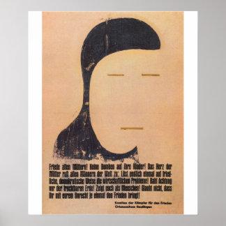 Poster da propaganda da paz pôster