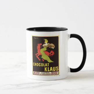Poster da propaganda de Chocolat Klaus Caneca