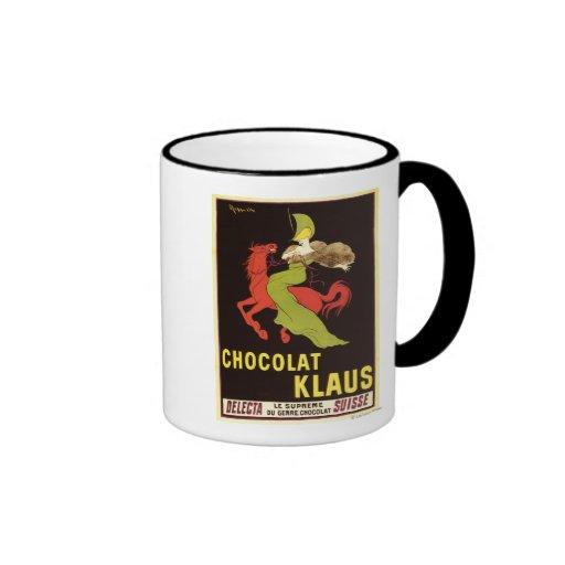 Poster da propaganda de Chocolat Klaus Canecas