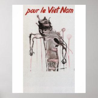 Poster da propaganda de Vietmam Pôster