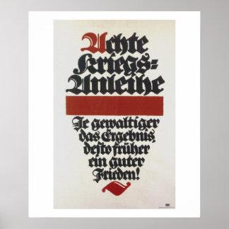 Poster da propaganda do empréstimo de oito guerras pôster