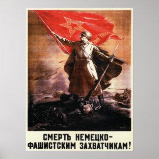 Poster da propaganda do russo de WWII