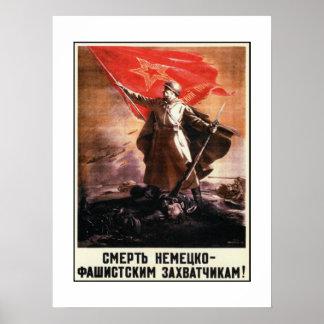 Poster da propaganda do russo de WWII Pôster