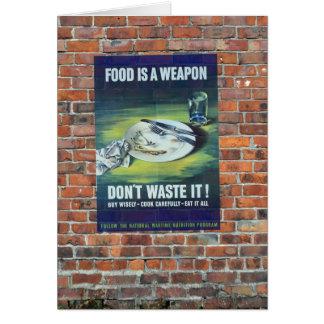 Poster da propaganda do tempo de guerra WW2 Cartão Comemorativo