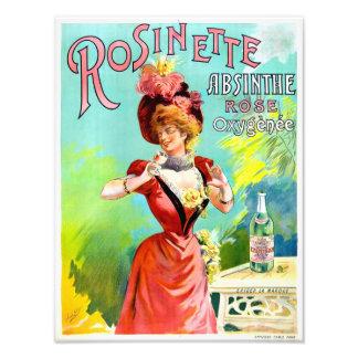 Poster da propaganda do vintage do absinto de impressão de foto