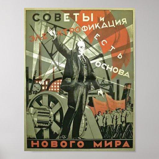 Poster da propaganda do vintage do russo