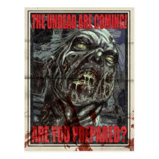 Poster da propaganda do zombi cartão postal