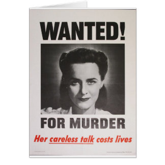 """Poster da propaganda """"querido para o assassinato""""  cartão comemorativo"""
