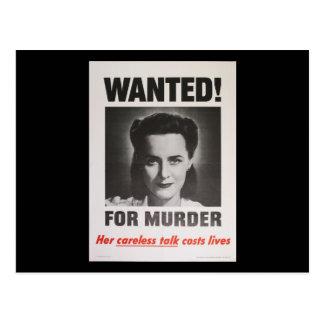 """Poster da propaganda """"querido para o assassinato"""" cartão postal"""