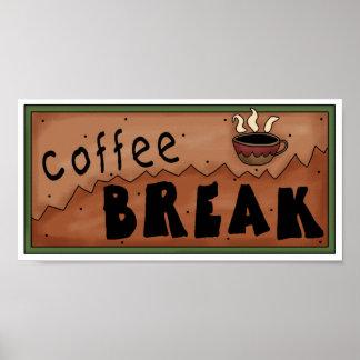 Poster da ruptura de café pôster
