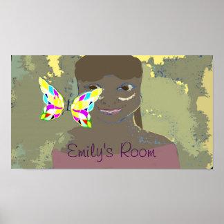 poster da sala da menina feita sob encomenda do